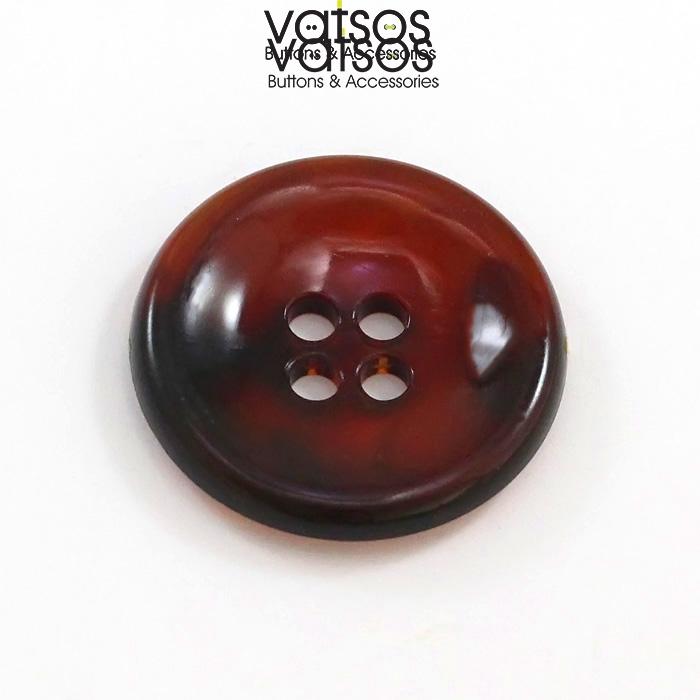 Πλαστικό κουμπί με βαθούλωμα