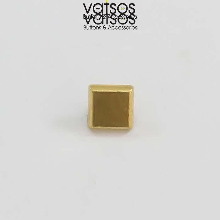 Μεταλλικό κουμπί τετράγωνο