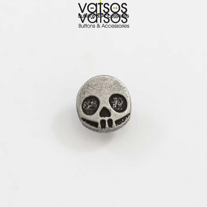 Μεταλλικό κουμπί με νεκροκεφαλή
