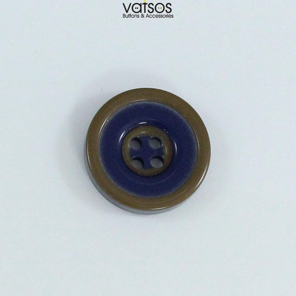 Πολυεστερικό κουμπί για σακάκια δίχρωμο