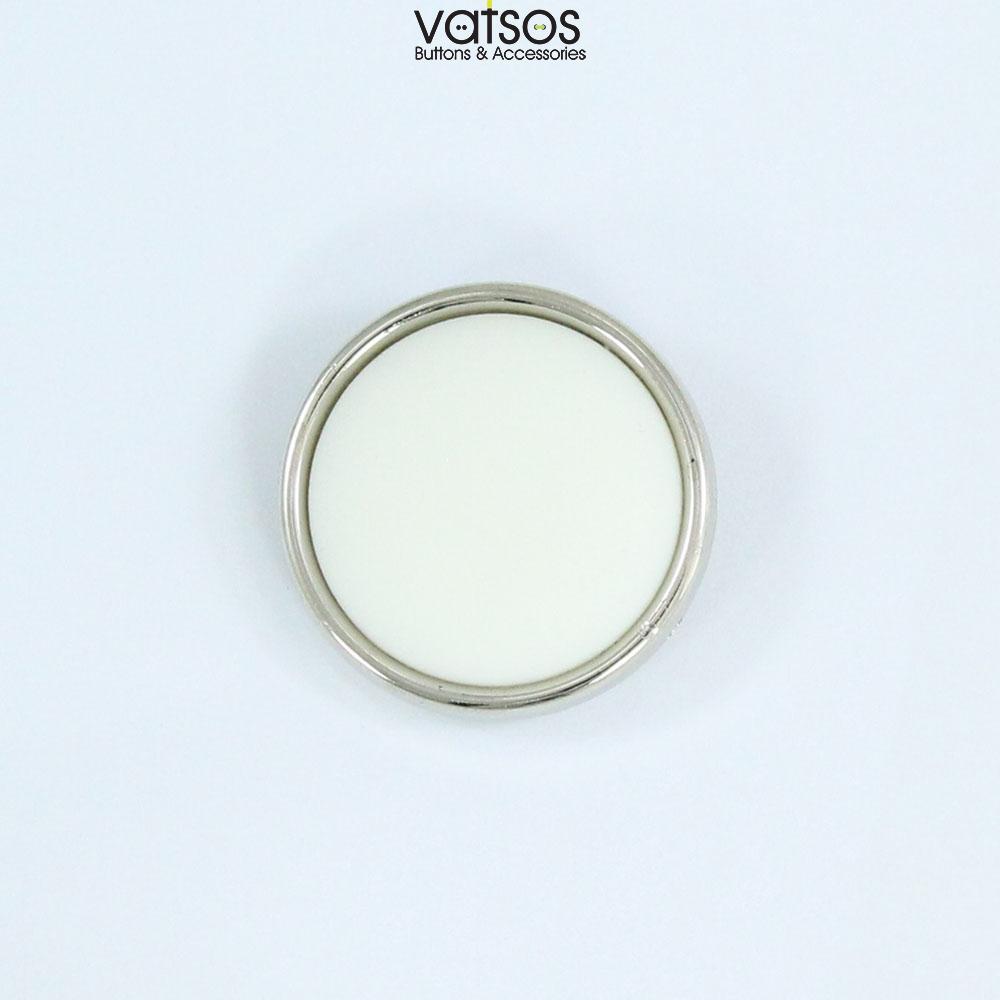 Πλαστικό κουμπί πομπέ με νίκελ περίγραμμα