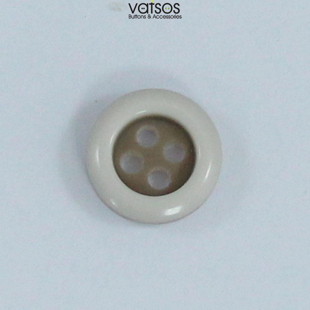 Πολυεστερικό κουμπί πουκαμίσου δίχρωμο