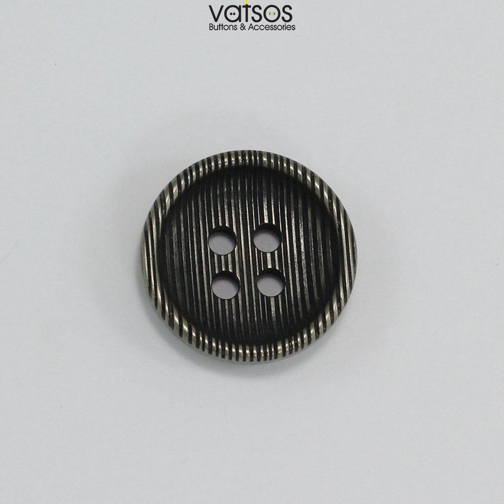 Πλαστικό κουμπί με ρίγες βαθουλωτό
