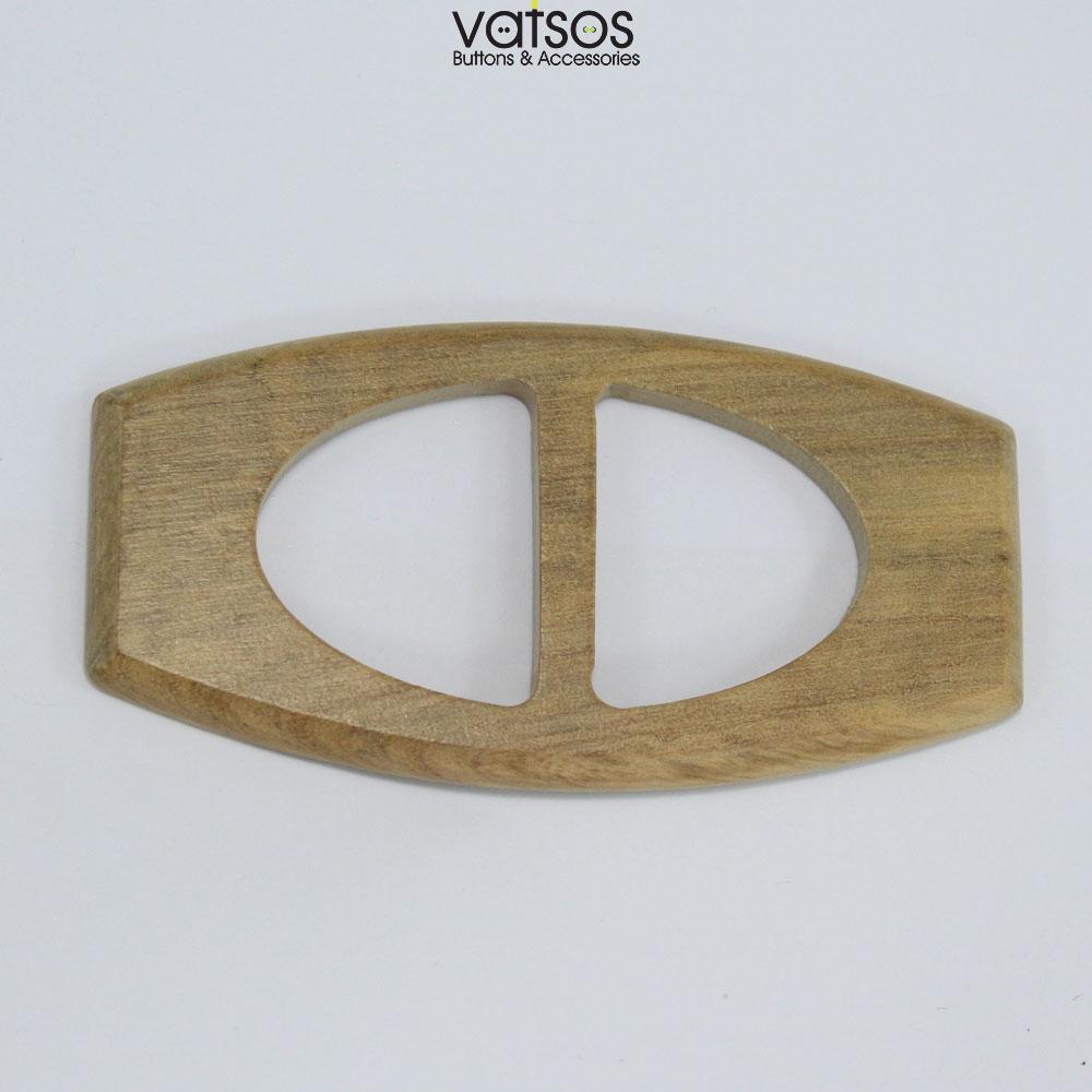 Ξύλινη τόκα σε οβάλ σχήμα