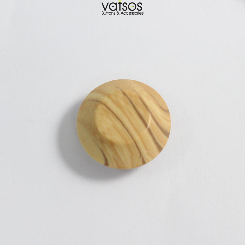 Πολυεστερικό κουμπί με όψη ξύλου