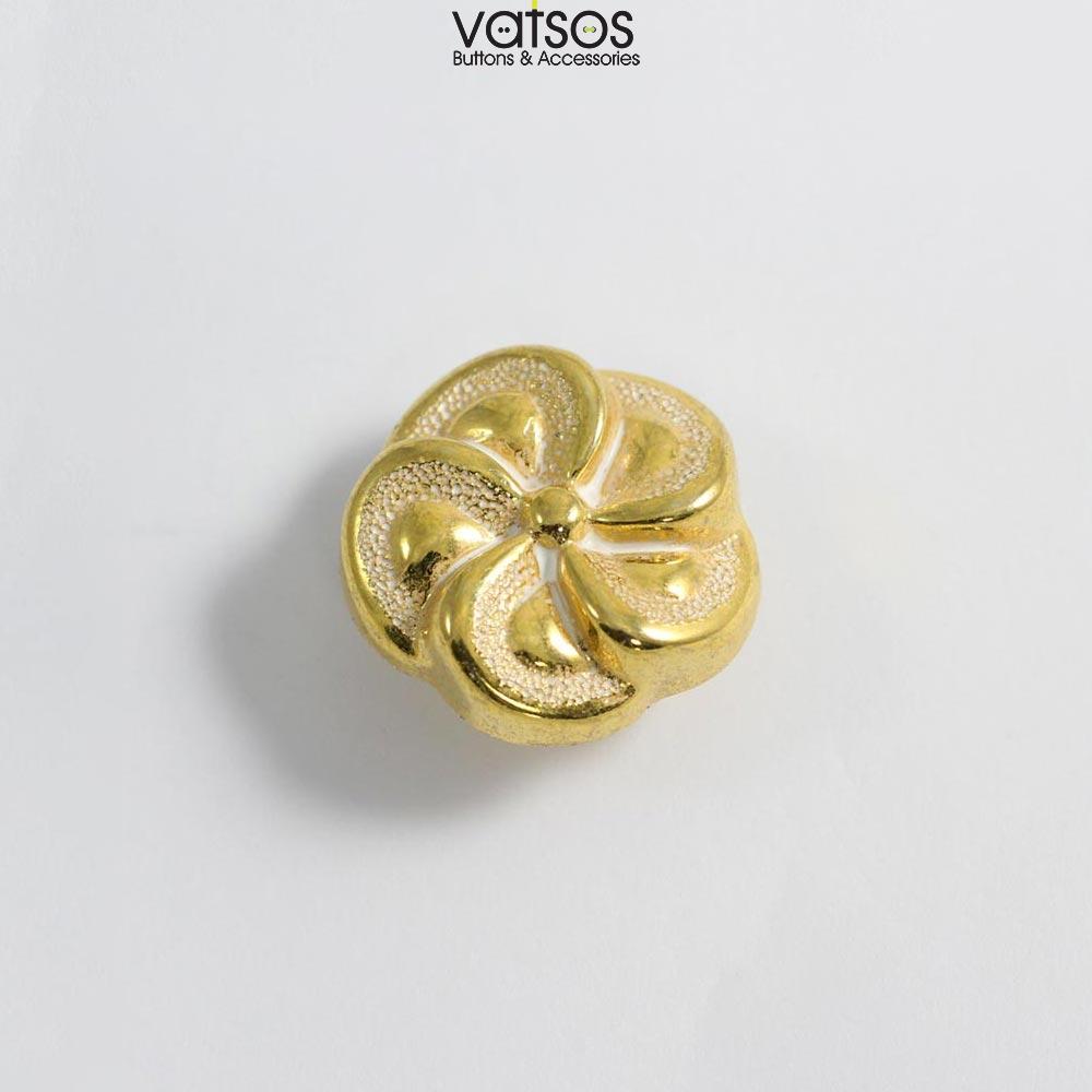 Πλαστικό κουμπί σε σχήμα λουλούδι
