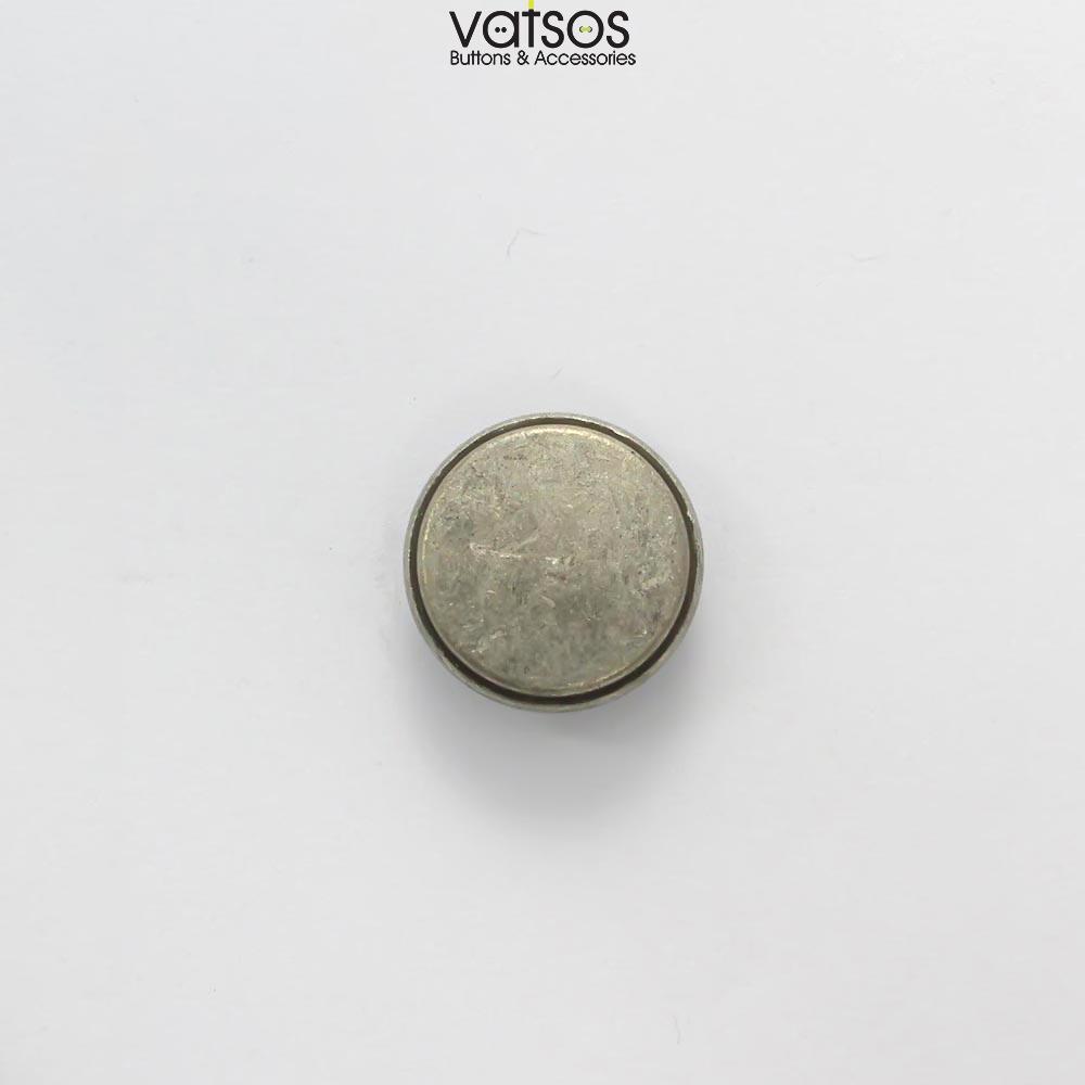 Μεταλλικό κουμπί με φλάτ επιφάνεια