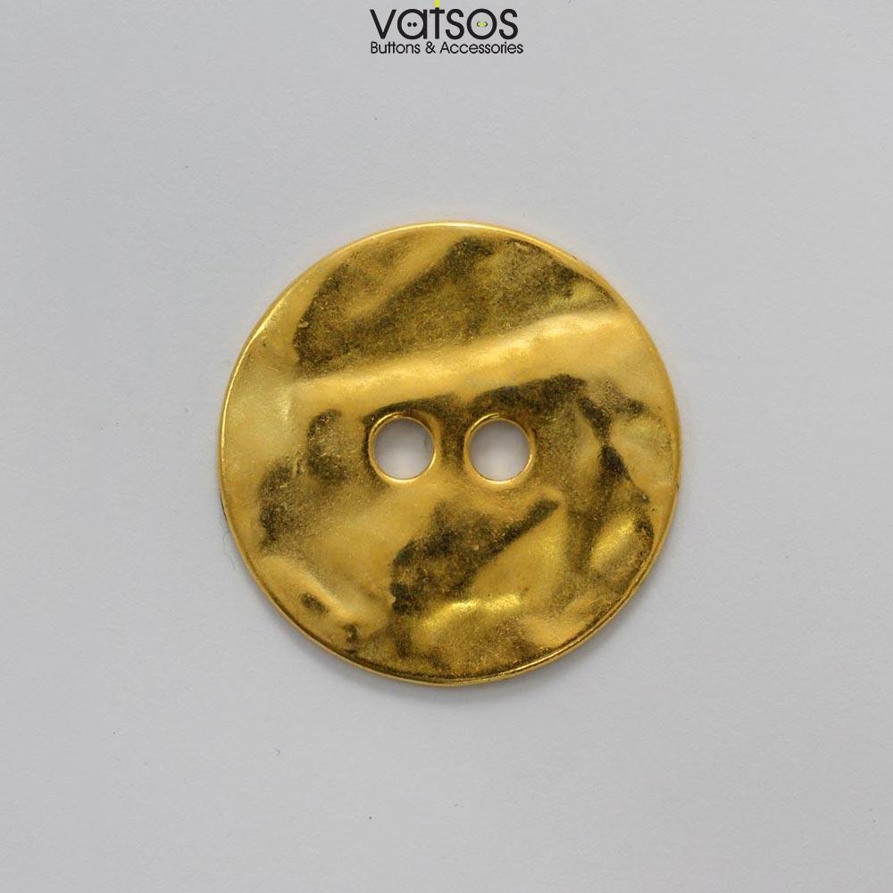 Μεταλλικό κουμπί με μεγάλες τρύπες